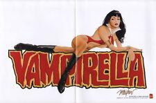 Mike Mayhew SIGNED Vampirella 2001 Promo Promotional Harris Comics Art Poster