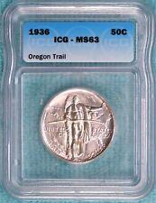 1936-P MS-63 Oregon Trail Commemorative Uncirculated