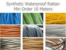 10m Flat Plastic Synthetic Rattan Furniture Restoration Repair Weaving Material