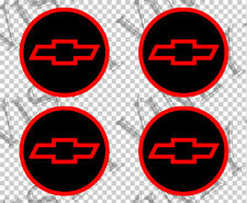 4x CHEVY logo emblem Center wheel hub Cap vinyl decal sticker overlay