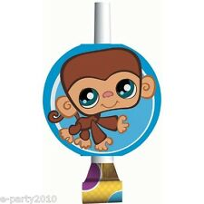 LITTLEST PET SHOP BLOWOUTS (8) ~ Birthday Party Supplies LPS Favors Monkey Blue