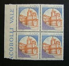 1983  Italia Castelli 1400 lire  quartina bdf   MNh**