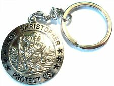 New St. Christopher Quality Metal Keyring Patron Saint of Travel Lucky Charm