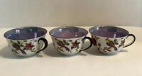 Vintage, Noritake - Japan Made Lusterware Tea Cups WTH Birds - Set Of Three