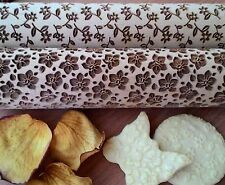 Rolling Pin Laser Cut Embossed Stylish Rolling Pins Floral Set 2 pcs
