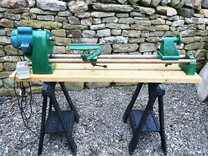 """Record Coronet No.1 36"""" Lathe, Good Working Order With Accessories"""