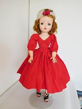 "Vintage 190's Alexander 21"" Cissy Fashion Doll in Tagged Outfit Red Dress"