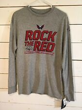 NEW 2018 NHL Washington Capitols Stanley Cup Champions Gray T-shirt LongSleeve S