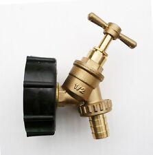 "IBC ADAPTOR TAP Tank Connector Water Storage Bio Diesel 1/2"" FREE POSTAGE"