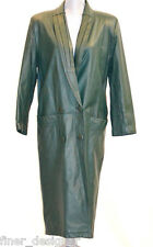 Global Identity trench G-III Long Forest soft Leather Coat oversize S VTG jacket