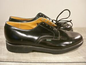 NOS Vintage Union Made Black Leather Oxford Soft Toe Delivery Mail Shoes Sz 10.5