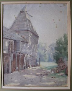 "ETHEL GREIG AUSTRALIAN WC ""COLONIAL FARMHOUSE LAUNCESTON"" C 1900 A"