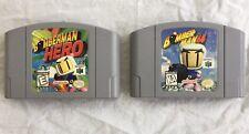 Bomberman 64 with Bomberman Hero Game Cartridges Only Nintendo 64 N64