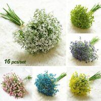 16pc Artificial Flower Fake Gypsophila Floral Wedding Home Party Decoration y