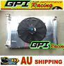 Aluminum Radiator +Shroud + fan FOR Holden V8 Commodore VG VL VN VP VR VS AT/MT