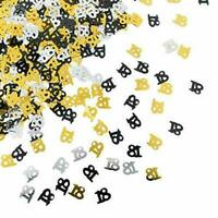 Black Gold Silver Birthday Party Table Confetti Decorations All Age Sprinkles