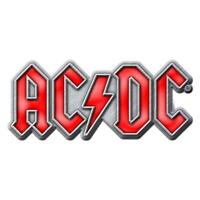 OFFICIAL LICENSED - AC/DC - RED LOGO METAL PIN BADGE ROCK ANGUS
