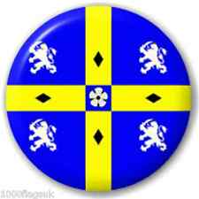 Durham County Flag BUTTON Pin Badge *