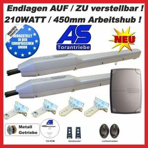 Flügeltorantriebe Torantriebe Set A8 2-flügelig a. 5,0m Endanschläge AUF und ZU.