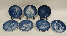 Royal Copenhagen Mors Dag Mothers Day Blue Animal Plates 1969-1974, 1977