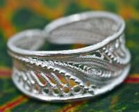 Handmade Genuine .925 Sterling Silver Filigree Band/Promise Ring. Choose Size.