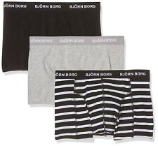 (3 Pack) Bjorn Borg Men's Mid Rise Shorts Boxer Briefs Soft Cotton Size 2XL