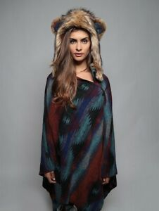 Spirithoods Moon Grizzly Bear Half Hood and Cape