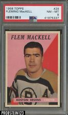 1958 Topps Hockey #29 Fleming MacKell Boston Bruins PSA 8 NM-MT CENTERED
