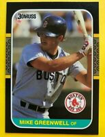 1987 MIKE Greenwell Rated ROOKIE Donruss CARD 585 Vintage Baseball Boston Redsox