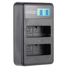 EN-EL14A 2-Slot Battery Charger USB for Nikon D3100 D3200 D5300D5500 DSLR Camera
