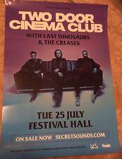 ORIGINAL POSTER - Two Door Cinema Club Festival Hall Melbourne July 2017