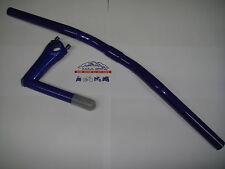 manillar de aluminio fixed bike 580mm en azul + Columna manillar fixed