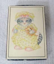 Vintage Kitty Cucumber 1983 Merrimack Mini Puzzle in Matchbox Kitten Doll  BBask e9315ab5405f