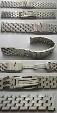 - in acciaio inox massiccio Uhrband nastro pilota lucidato 22 mm gabelfaltschliesse