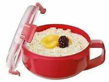 Sistema Microwave Breakfast Bowl - 850 Ml Red/clear