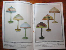 RARE ca 1920 Welsbach READING Lamp CATALOG - Color Shades - LOADED