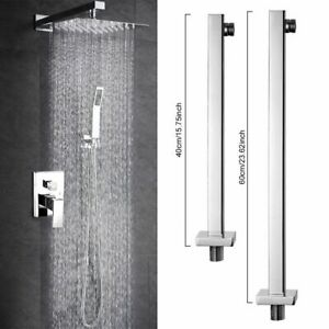 Hot 16//24/'/' Shower Extension Arm Square Chrome Wall Mounted For Rain Shower Head