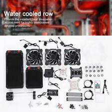 PC Liquid Water Cooling Kit 240mm Heatsink Pump Reservoir GPU CPU Bolck RGB Fan