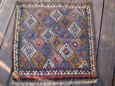 1890-1900 CAUCASIAN OR KURDISH SUMAK BAG FACE EXCELLENT  , GREAT COLORS