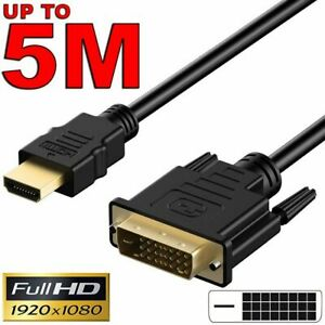 HDMI to DVI-D 24+1 Pin Male Cable AV Full HD for PC LCD PS3 XBOX 360 HDTV TV