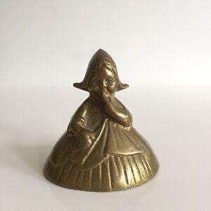 Petite Cloche de Table en Bronze Enfant Bruxelles Hauteur 5,5 cm