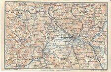 Carta geografica antica TERNI NARNI AMELIA Umbria TCI 1923 Old antique map