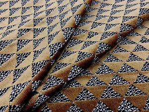 Gaston y Daniela Cut Velvet Triangles Upholstery Fabric- Las Cumbres Camel 5 yd