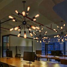 12/18/20 Industrial Sputnik Ceiling Light Vintage Satellite Iron Lamp Chandelier