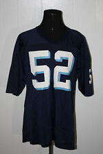 Vintage 80s Powers Two Toned Blue Mesh Football Jersey #52 XL