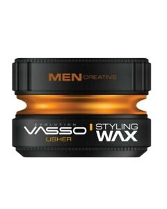 VASSO Usher Pro-Aqua Hair Styling Wax, Water Based Gel Wax - POMADE - Edition,👌