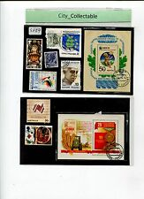 8 PCS MIXED USED STAMPS & 2 M/S FDI RUSSIA # S389