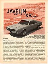 1969 AMC JAVELIN / XP PACKAGE   ~   ORIGINAL 2-PAGE ARTICLE / AD