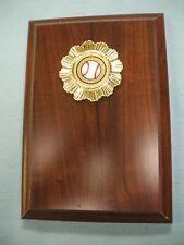 "baseball trophy plaque 4 1/2"" x 6 1/2"" Free engraving"