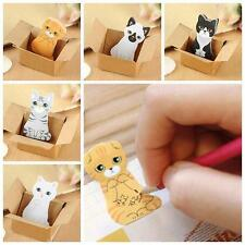 5 PCs/Set  Necessaries Stationery Mini Sticker Cartoon Animal Cat Sticky Notes